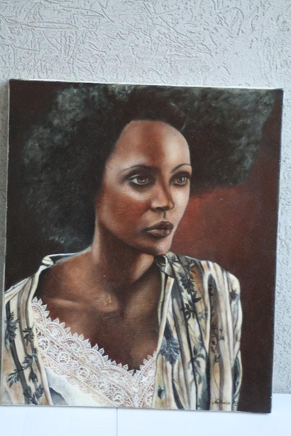 The African oil on canvas. Nathalie Koïn