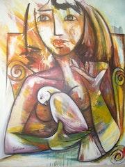 La muchacha de la paloma. J. L. Cicilio