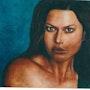 Carrey oil on canvas. Nathalie Koïn