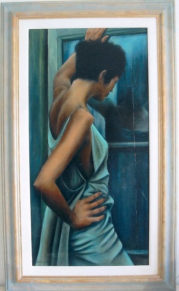 Reflexión óleo sobre lienzo. Nathalie Koïn
