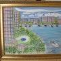 The Bridge Hotel, Boca Raton, Florida, acrílico sobre lienzo. Danielle Landry