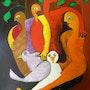 Le nid, réunion de la famille et protection par les oiseaux. Christian Blangez