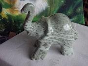 "Soapstone sculpture ""Elephant""."