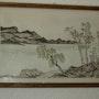 Paisaje japonés con tinta china. Michel Pernin
