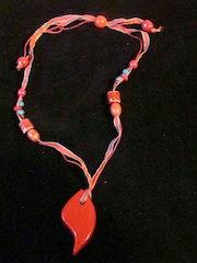Pendant red terracotta single model.