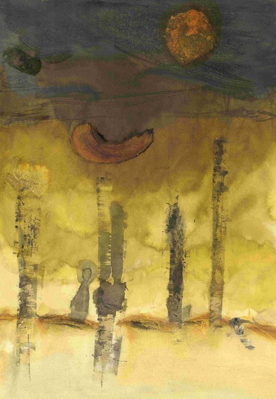 Ombre perdue dans la forêt jaune. Sophie Querin Querin Sophie