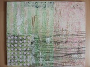 This is't «6» flag above White with collage of Jasper Johns. Mickaël Polaina