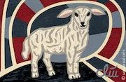 The Innocent Lamb - original painting - Jacqueline_Ditt.