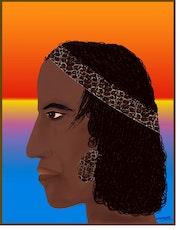 «Paco» Peinture numérique sur toile.