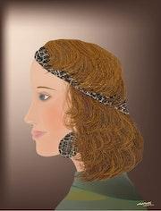 «Olympia» Peinture numérique sur toile.
