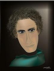 «Acteur» Peinture numérique sur toile.
