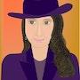 «La dama del sombrero» Pintura digital en lienzo. Leslie Frank Hollander