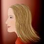 «Natalie» Pintura digital sobre lienzo. Leslie Frank Hollander