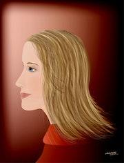 «Natalie» Digital Painting on Canvas.