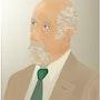 «Autorretratos» Pintura digital en lienzo. Leslie Frank Hollander