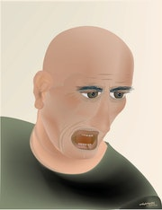 «Angry Man» Digital painting on Canvas.