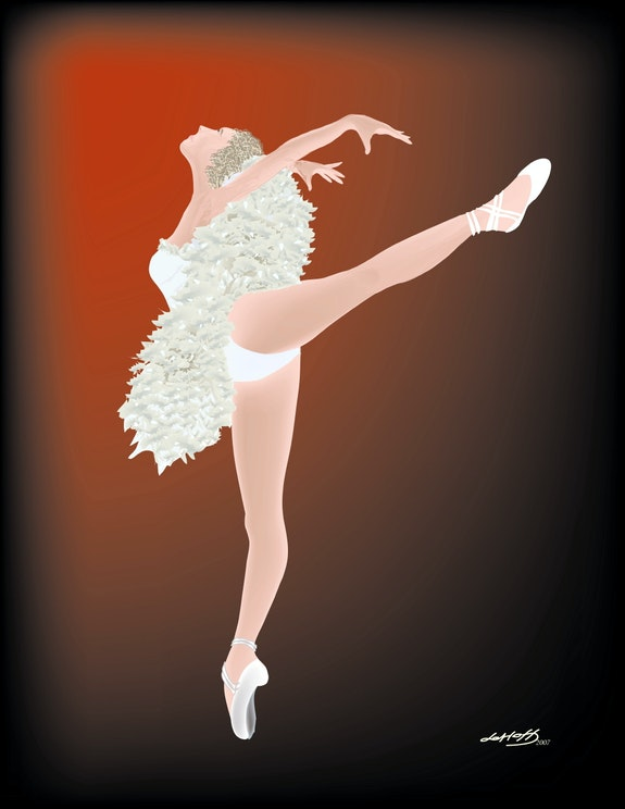 «Balletdancer» Digital painting on Canvas. Leslie Frank Hollander Leslie Frank Hollander