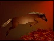 «Horse Jumping» Peinture numérique.