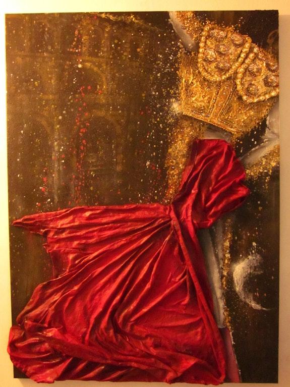 Danse sanglante (tauraumachie, tauraux, cape rouge, toréador, arène, acrylique). Liria Victorien Maye