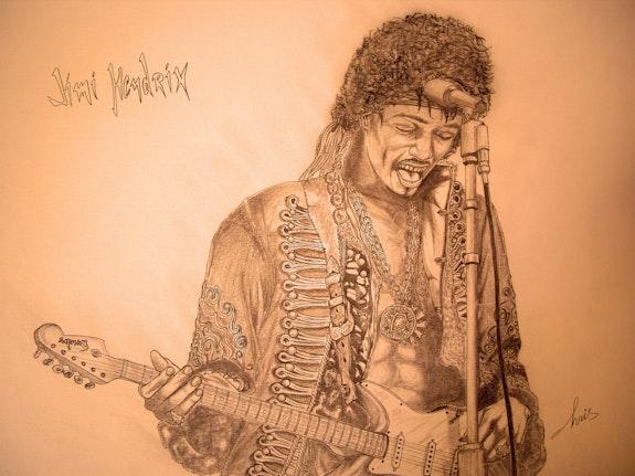 Jimi Hendrix. Vannucci Christophe Chris Vannucci