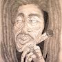 Dibujos animados de Bob Marley. Chris Vannucci