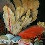 Naturaleza muerta copiado de un artista que me gusta Anne Vallayer costerl. Andre Blanc