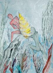 Aquarelle n°5, chapitre 3 du livre «pi». Philippe Lavauzelle