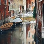Venice and its boats. Houmeau