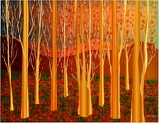«Golden Forest» Digital painting on Canvas.