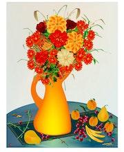 «Fleurs et Fruits» Peinture numérique sur toile.