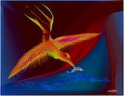 «Firebird» Digital painting on Canvas.