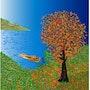 «Entrada» Pintura digital en lienzo. Leslie Frank Hollander