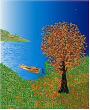 «Inlet» Peinture numérique sur toile.