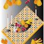 «Fruits on the table» Digital painting on Canvas. Leslie Frank Hollander