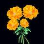 «Flores» Pintura digital en lienzo. Leslie Frank Hollander