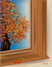 «Window» Digital painting on Canvas.
