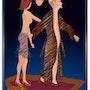 «Traum und Wirklichkeit» Digitale Malerei auf Leinwand. Leslie Frank Hollander