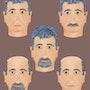 «5 Faces» Peinture numérique sur toile. Leslie Frank Hollander