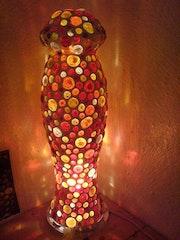 Tisch- oder Bodenlampe Phallus.