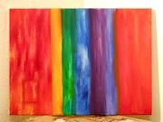 Abstrakter regenbogen.