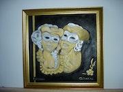 Masques vénitiens souvenir de Venise. Mouxycat