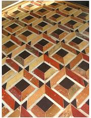 Adriatique - Mosaic Tabelle, Antique terra cotta. Mosaique Tahlaos
