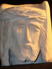 Tête de Jésus avec couronne d'épis.
