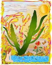 «Rêverie» Peinture numérique sur toile.