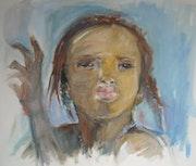Visage d'afrique, portrait d'enfant.