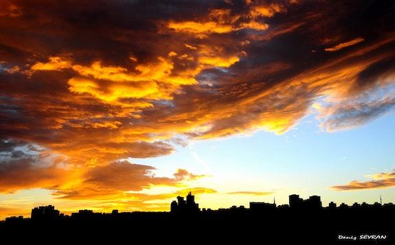 The sky is burning. (Sunrise).  C. Deniz Seyran