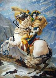 Napoléon dans les Alpes.