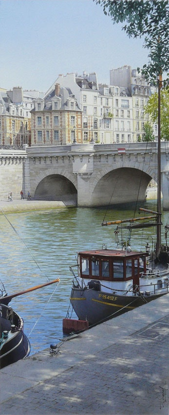 Place Dauphine and the Pont Neuf. Thierry Duval Thierry Duval