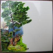 L'arbre et les rochers.