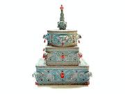 3 Boites superposées: » sentiment d'exotisme oriental». Akba